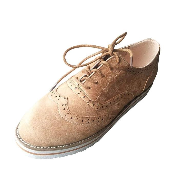 POLP Botas Calzado Casual Mujer otoño Antideslizante Talon Zapatos señora Invierno Botas de Vestir Botines de Cuero con Cordones Botines Mujer Planos ...