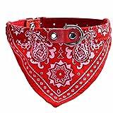 ABC® Adjustable Pet Dog Puppy Cat Neck Scarf Bandana Collar Neckerchief (Red)