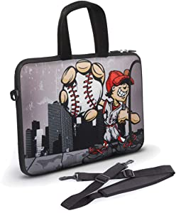 8-11.8 inch Tablet Sleeve, Anyshock Neoprene Tablet Bag Carring Case Sleeve Cover with Handle Ultraportable Water-Resistant for Laptops/Notebook/ebooks/Kids Tablet/Apple ipad(Softball)
