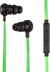 Razer Hammerhead Pro v2 Earbuds: Custom-Tuned Dual-Driver Technology - In-Line Mic & Volume Control - Aluminum Frame - 3.5mm Headphone Jack - Green