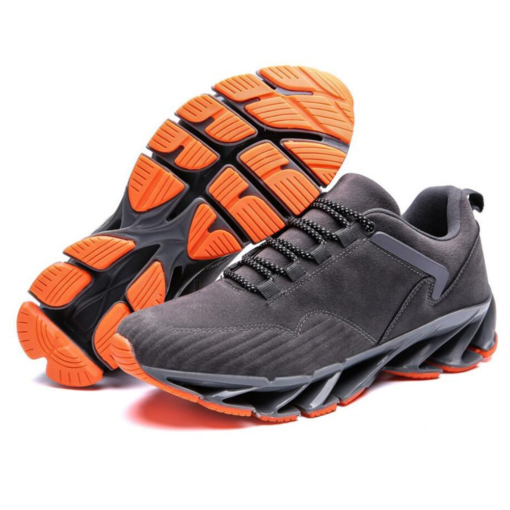 CAI Paar-bereifte Turnschuh-Frühlings-   Fall-   Winter-Komfort-laufende Frauen athletische Schuhe Männer Frauen Winter-Komfort-laufende schnüren Sich Oben Mode-zufällige Schuhe (Farbe   Grau, Größe   39) 388310