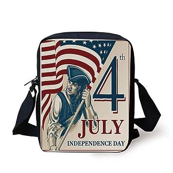 Adjustable Shoulder Strap Messenger Bag Happy 4th Of July Unisex Backpack Shoulder Crossbody Bag