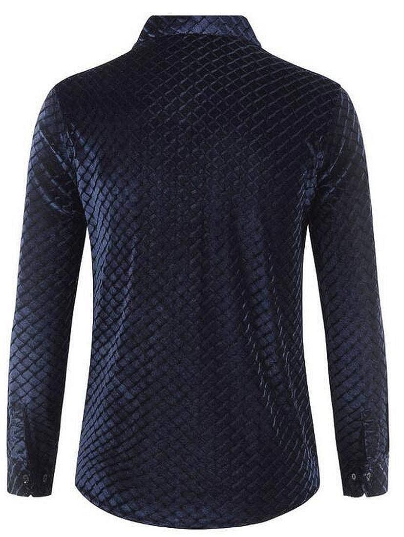 Colmkley Summer Men Casual Slim Short Sleeve Lapel Patchwork T Shirt Top Blouse