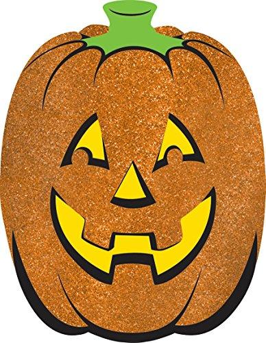 Large Glitter Pumpkin Cutout (Pumpkin Glitter Cutouts)