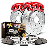 Power Stop KC5490-36  Z36 1-Click Truck and Tow Brake Kit (with Carbon-Ceramic Pads, Drilled and Slotted Rotors and Powder Coated Calipers)