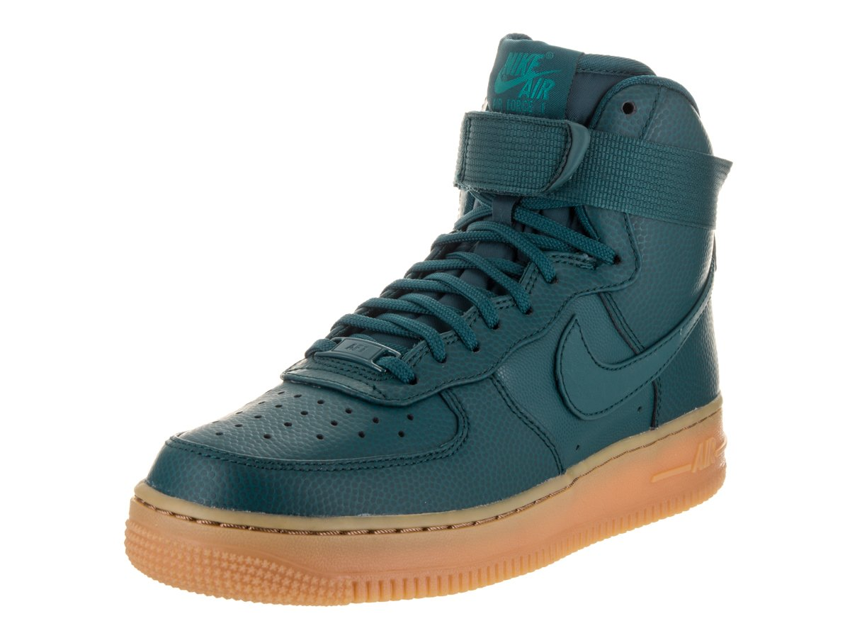NIKE Women's Air Force 1 Hi SE Basketball Shoe B01MDMEOYA 6 B(M) US|Midnight Turquoise/Rio Teal/Gum Medium Brown