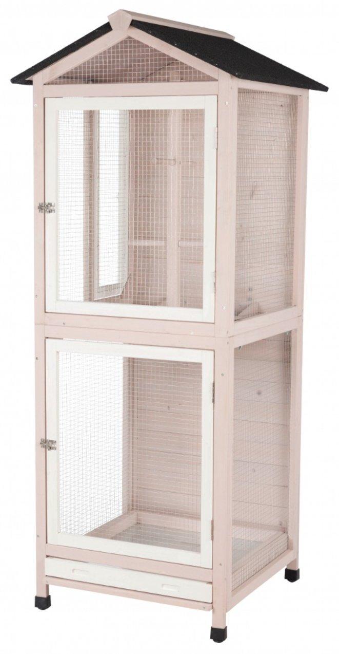Trixie Pet Products Natura Aviary Gray/White 55952