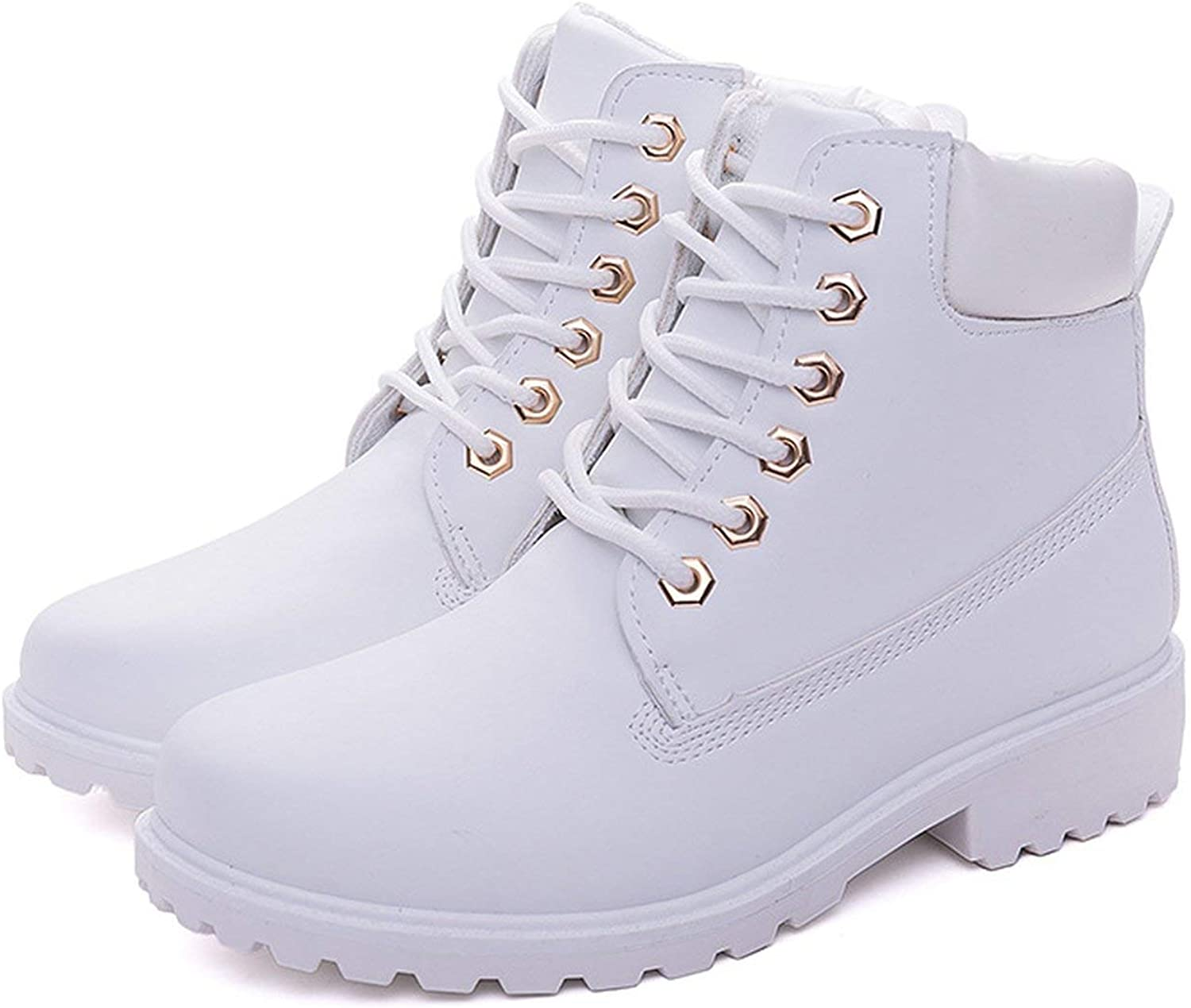 Winter Boots Fur Plush Sneakers Women Snow Boots Women lace up Ankle Boots,Green no Fur,6.5