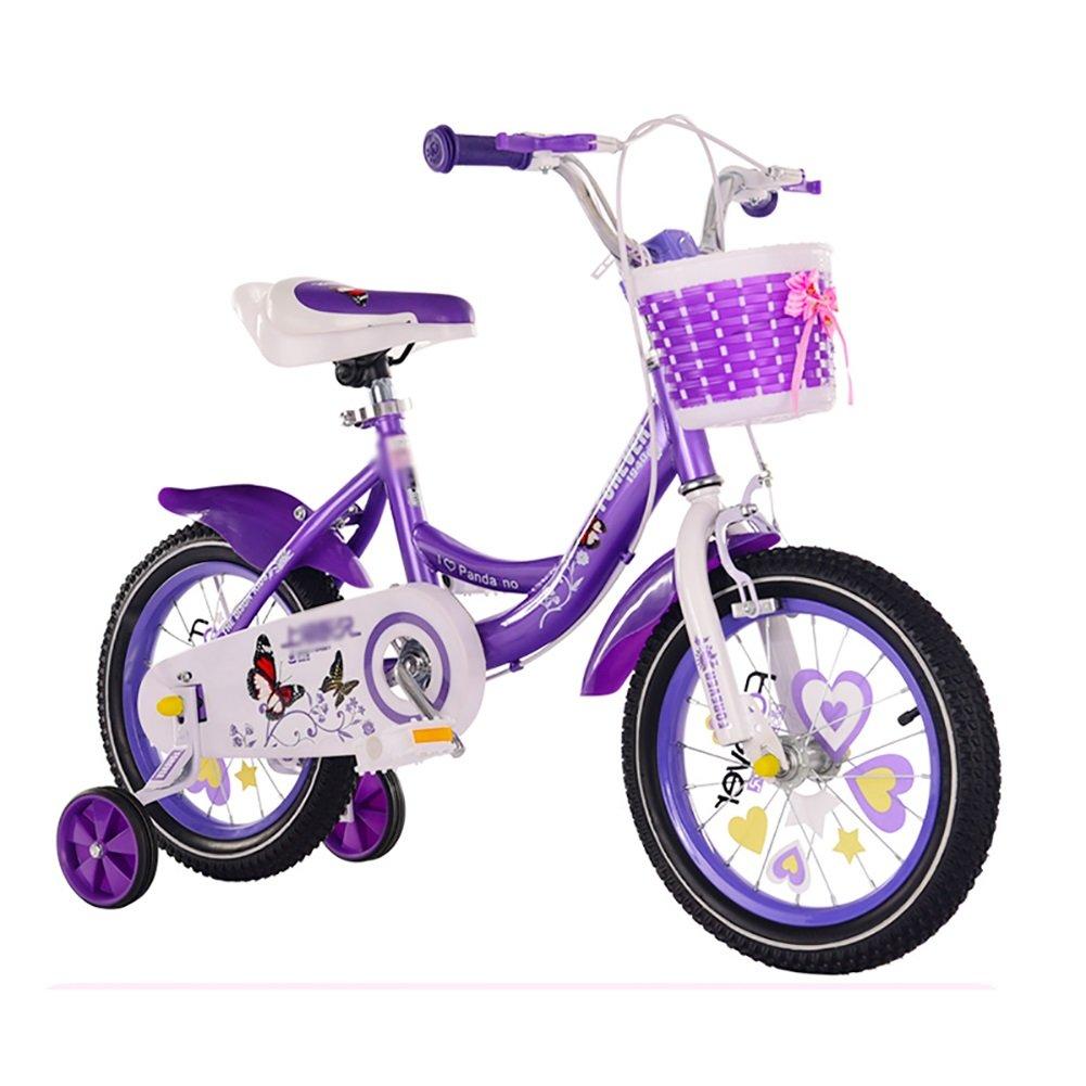 パープルチャイルドキャリッジバイクガールボーイベビーサイクリング12 14 16 18インチの子供用自転車2-3-6-8歳 B07DWTZY1NStyle 1 18 inch