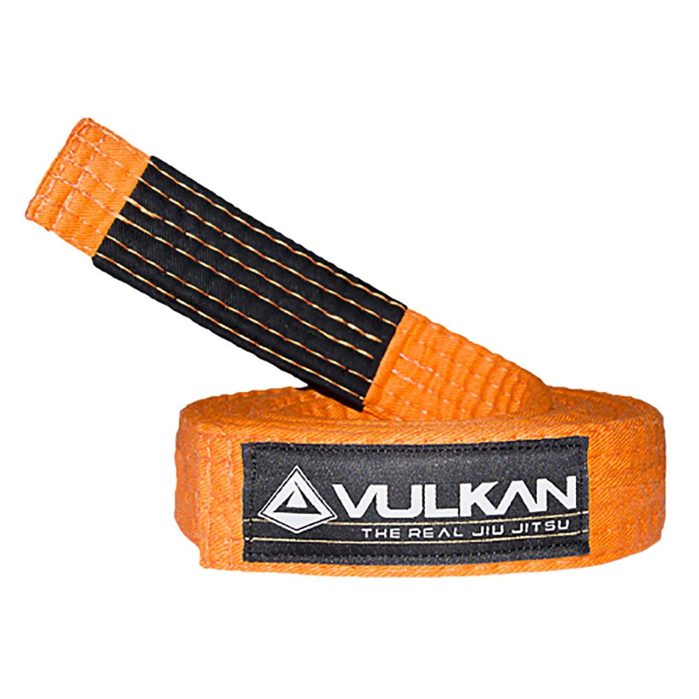 Vulkan Fight Company Brazilian Jiu Jitsu, BJJ Kids Belt for Martial Arts Sports, Orange, A0 by Vulkan
