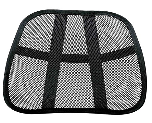 Cool Mesh Back Lumbar Support Vent Cushion Car Office Chair Truck Seat Black from CIT