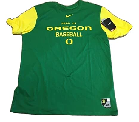 huge discount 54be5 c9122 Image Unavailable. Image not available for. Color  Nike Oregon Ducks  Baseball Dri-Fit Cotton College T-Shirt ...