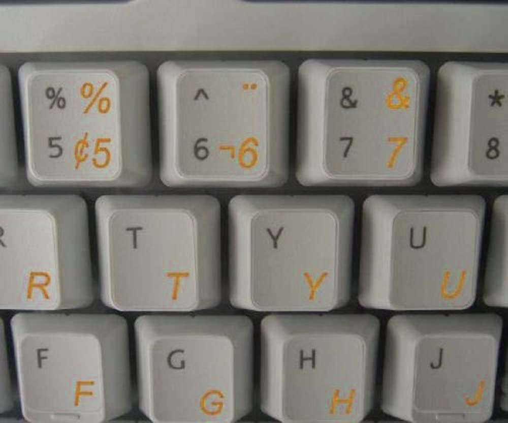 Suitable for ANY Keyboard Qwerty Keys Portuguese Brazilian Transparent Keyboard Stickers With WHITE Letters