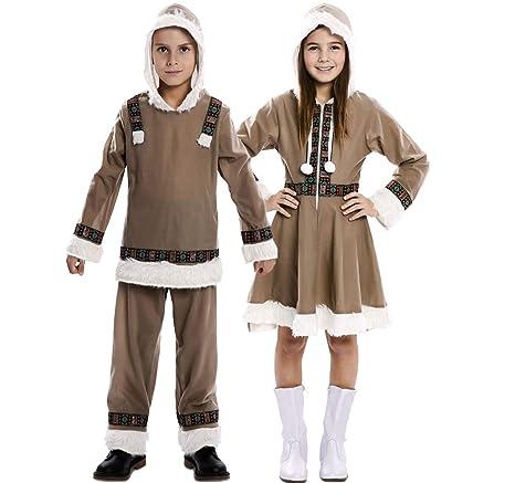 EUROCARNAVALES Disfraz de Esquimal para niña: Amazon.es ...