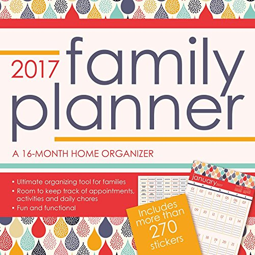 2017 FAMILY PLANNER Calendar - 12 x 12 Wall Calendar (W/BONUS STICKER SHEET)