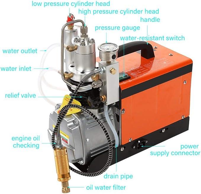 Compressore elettrico da 220 V 30 mpa ad alta pressione set di pompa ad aria a basso rumore. impermeabile