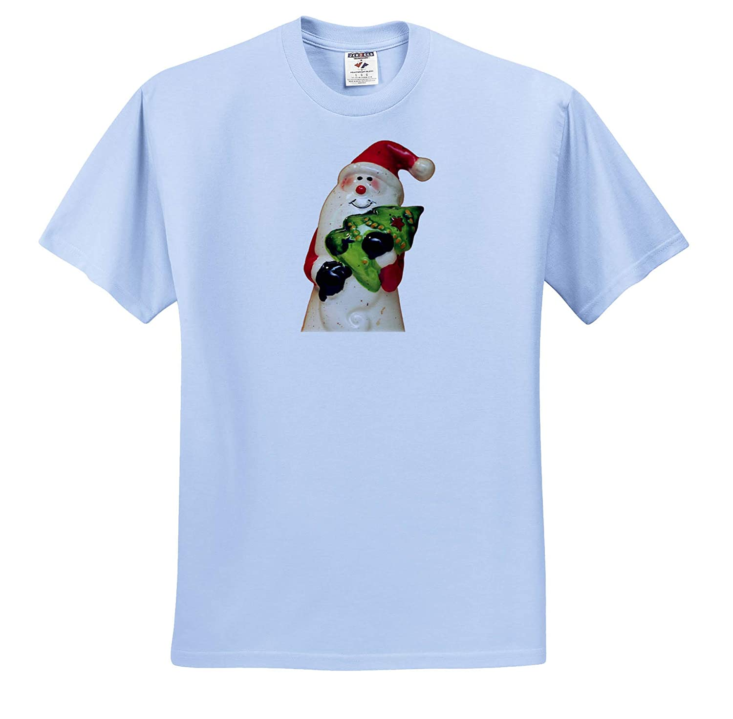 Holiday Ceramic Santa Claus Holding a Christmas Tree - T-Shirts 3dRose Stamp City Photograph of a Painted