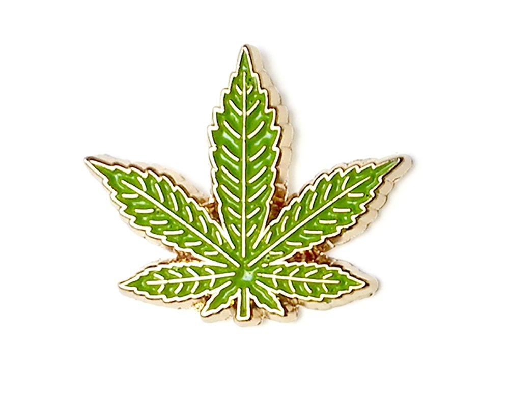 Marijuana Leaf Enamel Lapel Pin