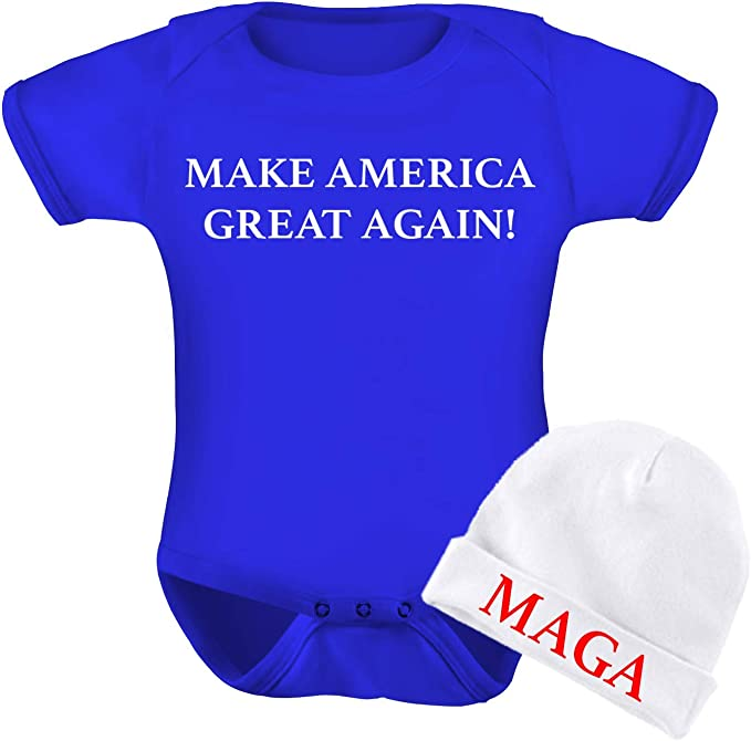 Baby bodysuit Super Cute| I/'m Here To Make America Great Again