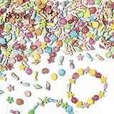 """Mini-Perlen """"Strand und Meer"""" - für Kinder zum Basteln von Schmuck - Ketten - Armbändern - 400 Stück"""
