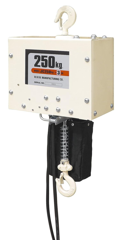 スリーエッチ 電気チェーンブロック JC 250kg 揚程6m 単相100V仕様 B00FRY965E