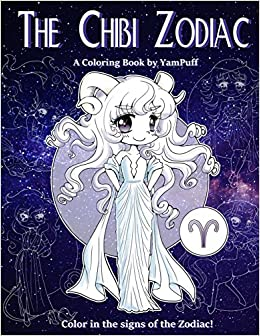 Amazon The Chibi Zodiac A Kawaii Coloring Book By YamPuff Featuring Astrological Star Signs As Chibis 9781720492924 Yasmeen Eldahan Books