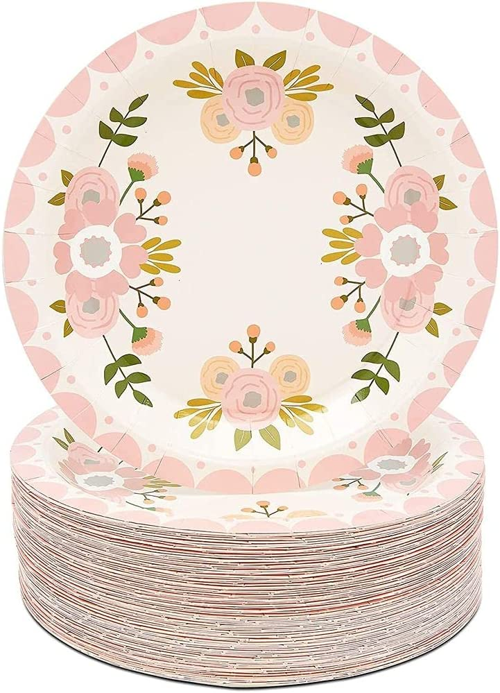 Details about  /Paper Plates /& Napkins Sprint Fling Flowers Party Set New
