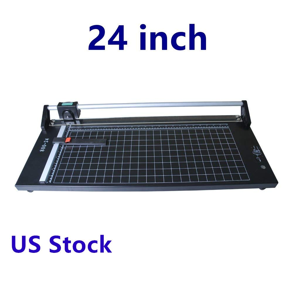 US Stock PRO 24 Inch Precision Rotary Paper Cutter Trimmer, Professional Sharp Photo Paper Cutter Heavy Duty by Unknown