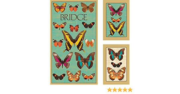 Deyrolle Butterflies Caspari-Toys GS124J Jumbo Type Entertaining with Caspari Bridge Playing Cards Gift Set