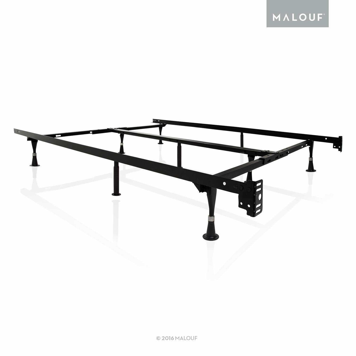 MALOUF STRUCTURES Heavy Duty 9-Leg Adjustable Metal Bed Frame with Double Center Support and Glides Only - UNIVERSAL (Cal King, King, Queen, Full XL, Full, Twin XL, Twin) by MALOUF (Image #1)