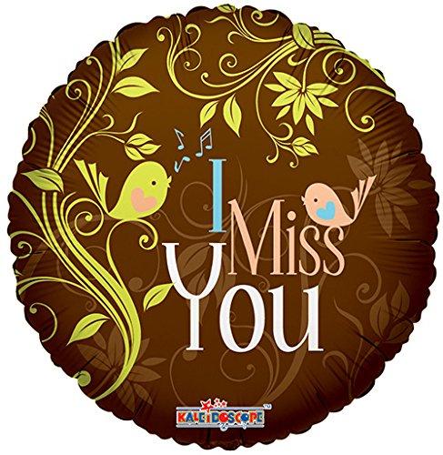 I Miss You Round Shaped 17 Inch Mylar Balloon Bulk -