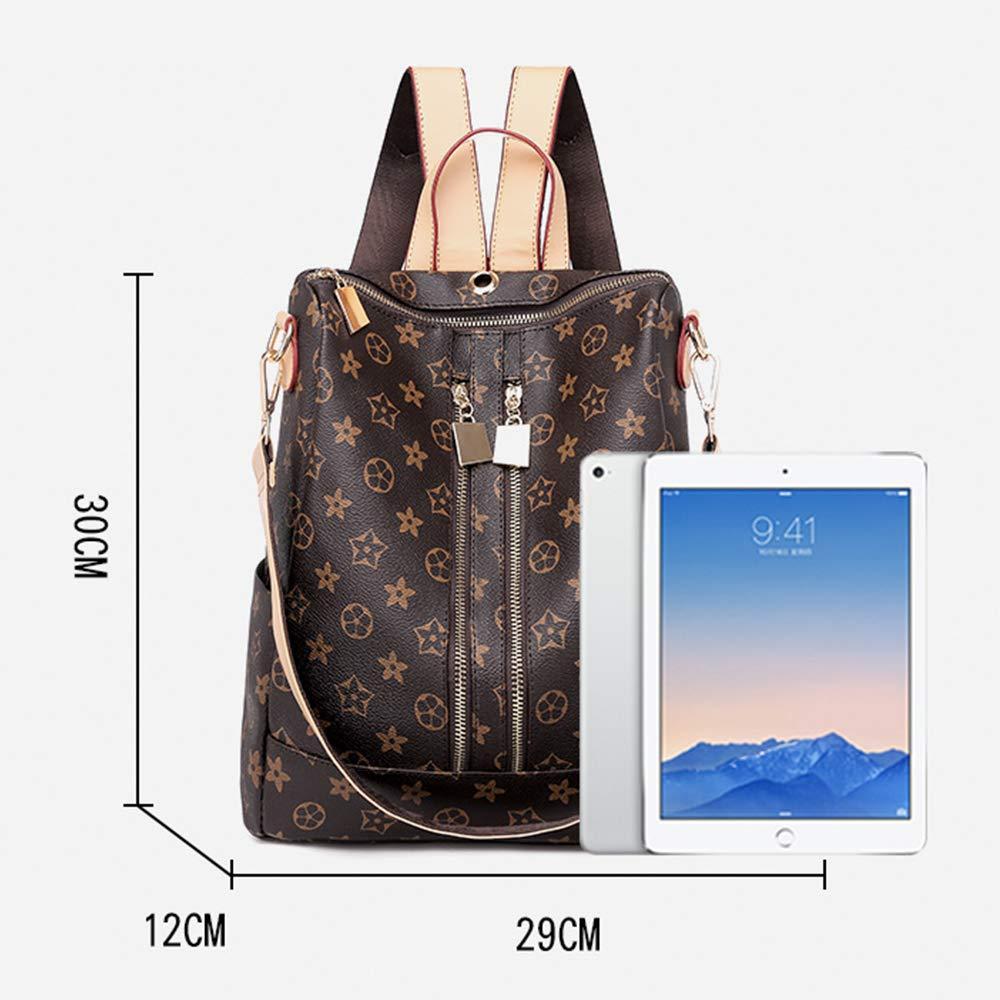 TXVSO Fashion Leather Zipper Backpack Rucksack Purse Handbag Crossbody Shoulder Bag For Women Ladies Anti Theft Pocket
