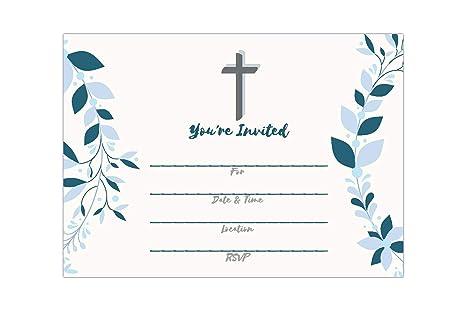 25 Invitaciones Religiosas Niños O Niñas Rellena