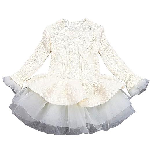 8f8d74e5b Amazon.com  Sunbona Baby Girls Princess Cute Knitted Sweater ...