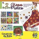 : 2 Square Glass Plates