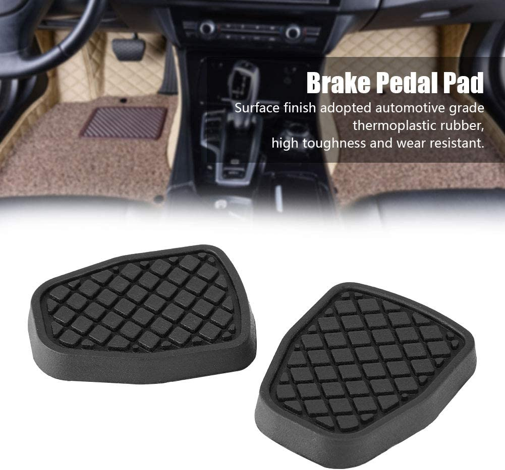 Qiilu 2pcs Clutch and Brake Pedal Pad Rubber Foot Pedal Pad Covers for Subaru Forester IMPREZA Legacy Outback WRX 36015GA110 36-015GA111