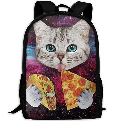 Amazon.com - JJHGNL Cute Taco Cat Pizza Travel Backpack 5e9b68f91dee3