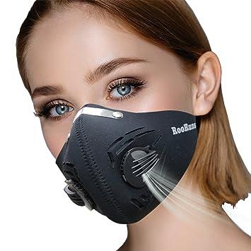 Máscara antipolvo de carbono activado con velcro ajustable antipm 2,5 polen alergia lavable máscara