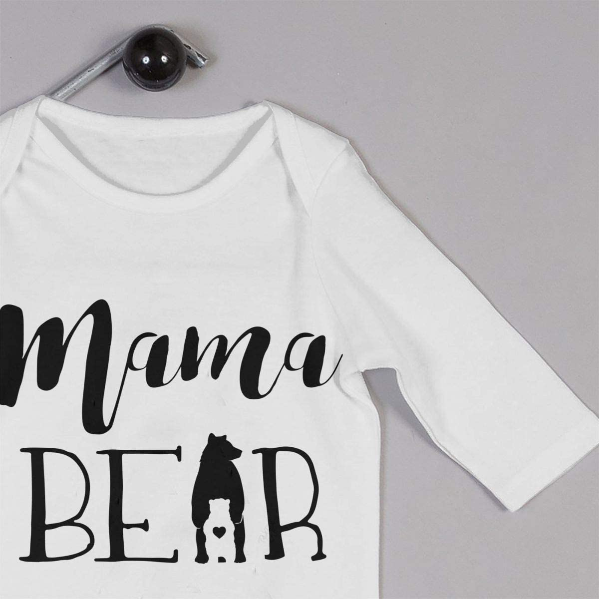 Mama Bear Printed Baby Boys Girls Jumpsuit Long Sleeve Rompers White