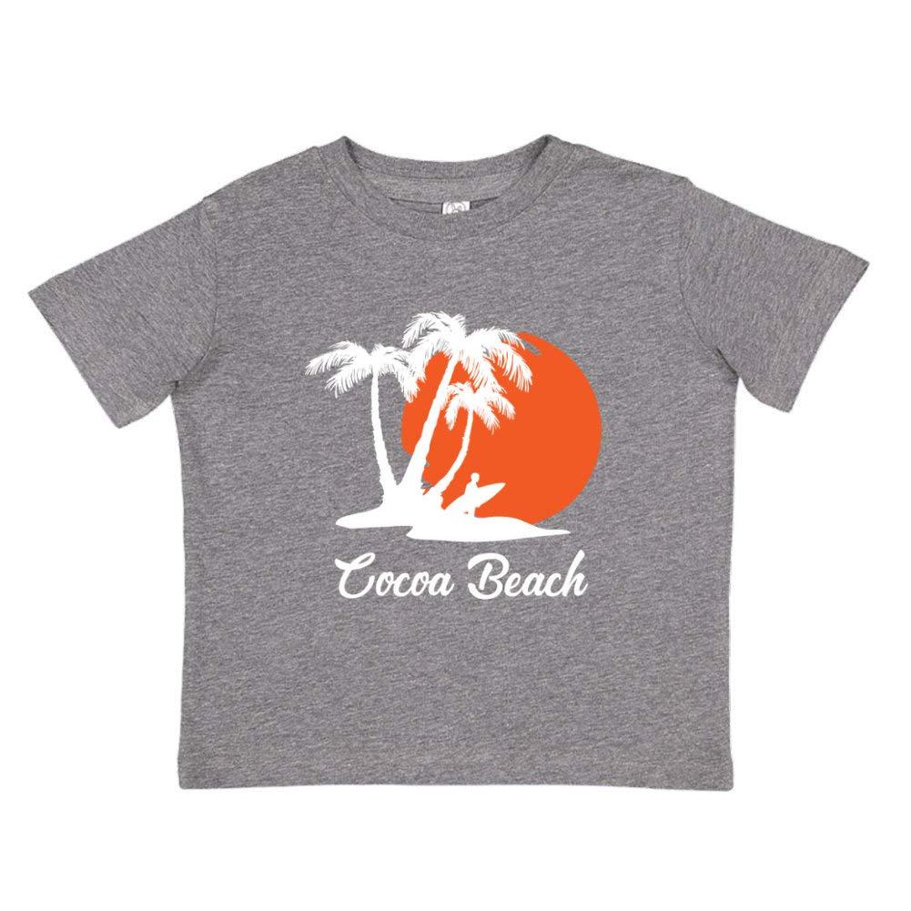 Cocoa Beach Florida Beach Sunset Surfer Toddler//Kids Short Sleeve T-Shirt