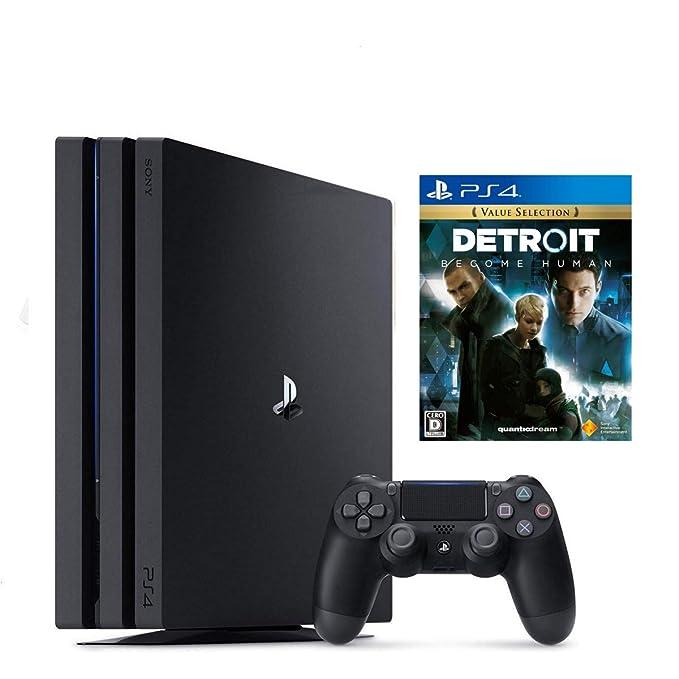 PlayStation 4 Pro ジェット・ブラック 1TB + Detroit: Become Human セット【Amazon.co.jp特典】オリジナルカスタムテーマ (配信)