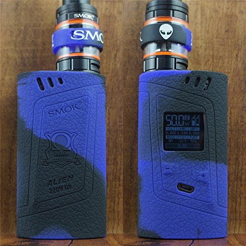 ModShield for Smok Alien 220W TC Silicone Case & TANK BAND ByJojo Skin Cover Sleeve Wrap Shield (Purple/Black)
