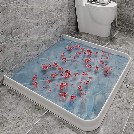 Tira de silicona para barrera de agua de baño Sello de mampara de ...