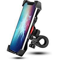 Bike Phone Mount Grefay Universal Bicycle/ Motorcycle Cell Phone Holder Smartphone Cradle Clamp 360° Rotatable for…