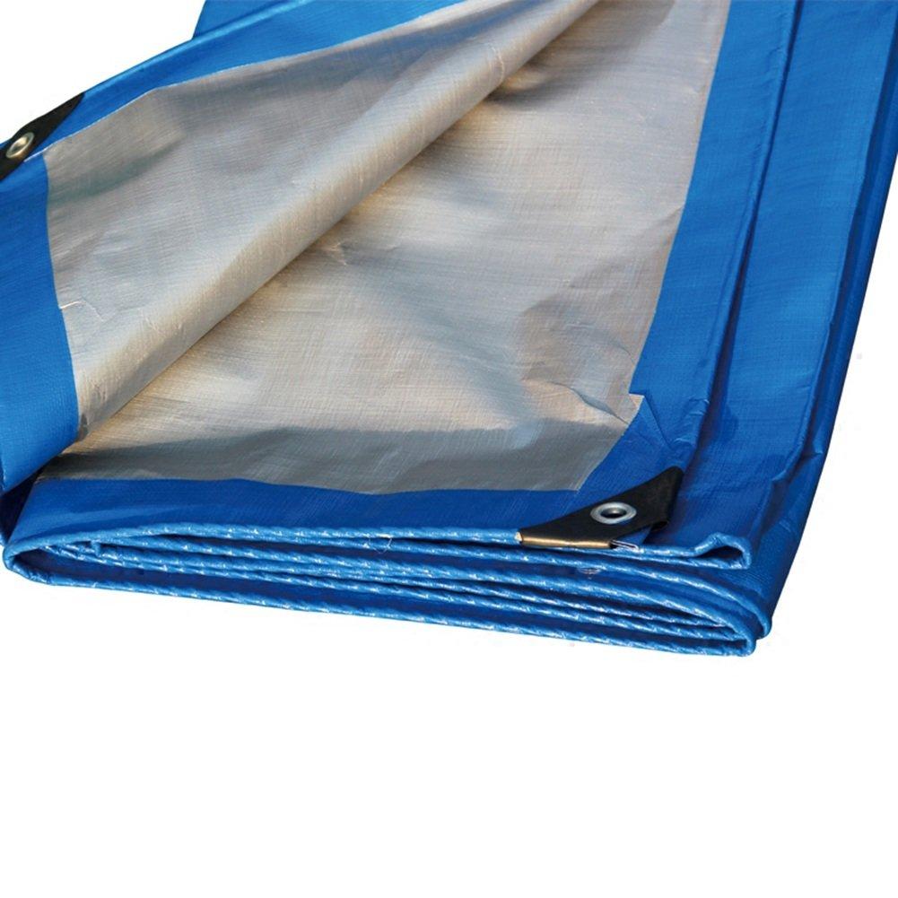 ブルーカラーポリエチレンプラスシックレインクロス防水日焼け防止10種類のサイズは倉庫に使用することができます建設工場工場と企業湾岸埠頭 防水および防湿 (サイズ さいず : 5 x 6m) B07FCYB4GD 5 x 6m  5 x 6m