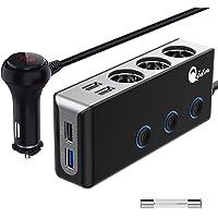 QC 3.0 auto-oplader 3-voudig, 12 V/24 V sigarettenaansteker verdeler USB autoadapter 120 W DC meervoudige socket…