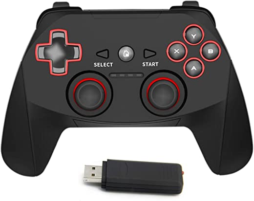 2.4G Wireless Controller for PS3, PC Gamepads with Vibration Range...