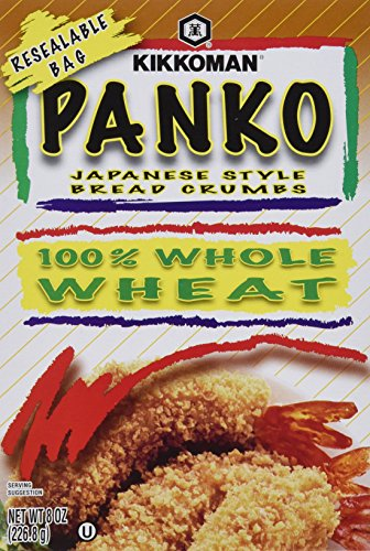 Kikkoman Panko Japanese Style Bread Crumbs Whole Wheat (Pack of 4) by Kikkoman