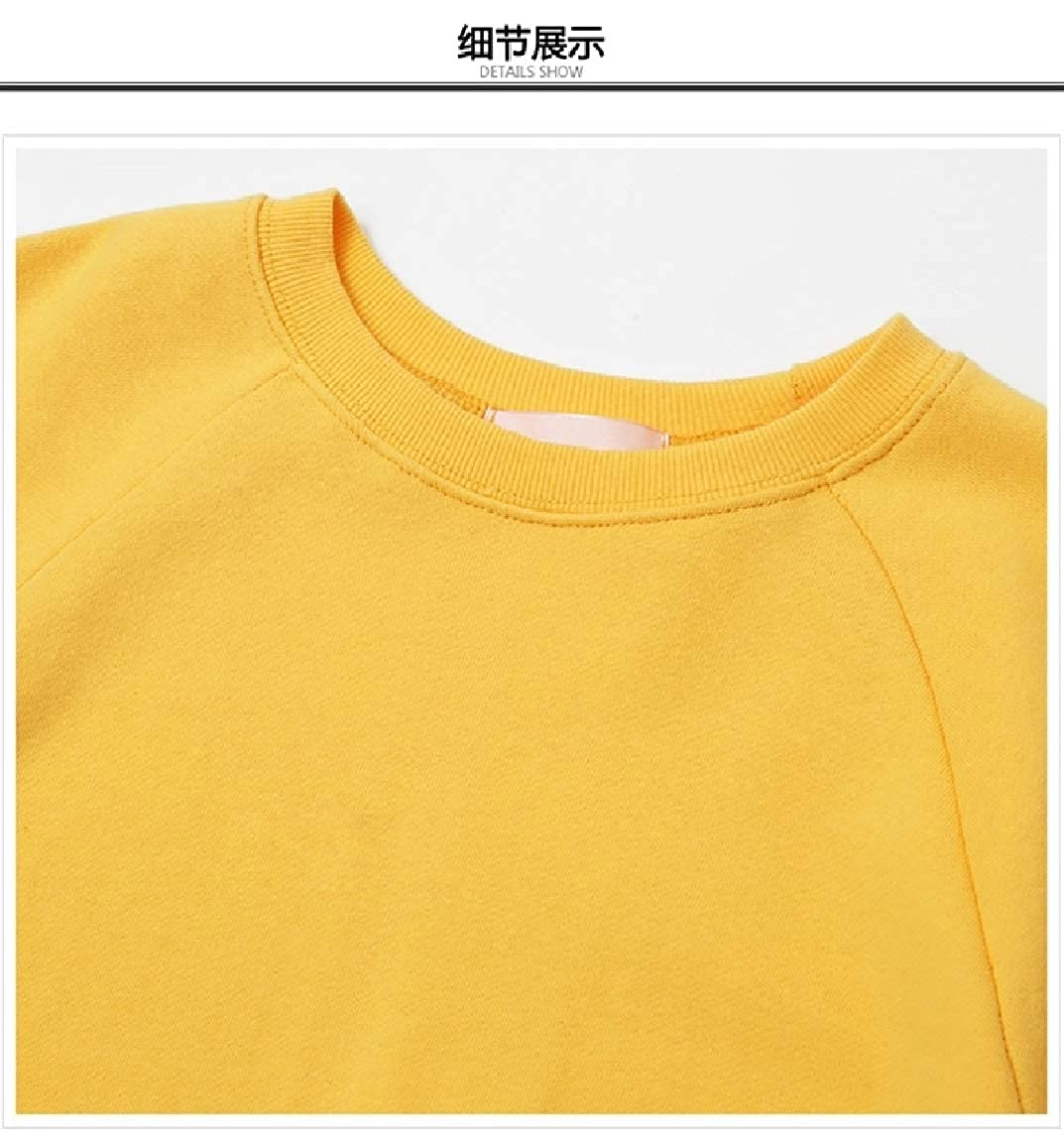 SayahWomen Pullover Oversize Basic Bright Color Sweater Hoodie Top