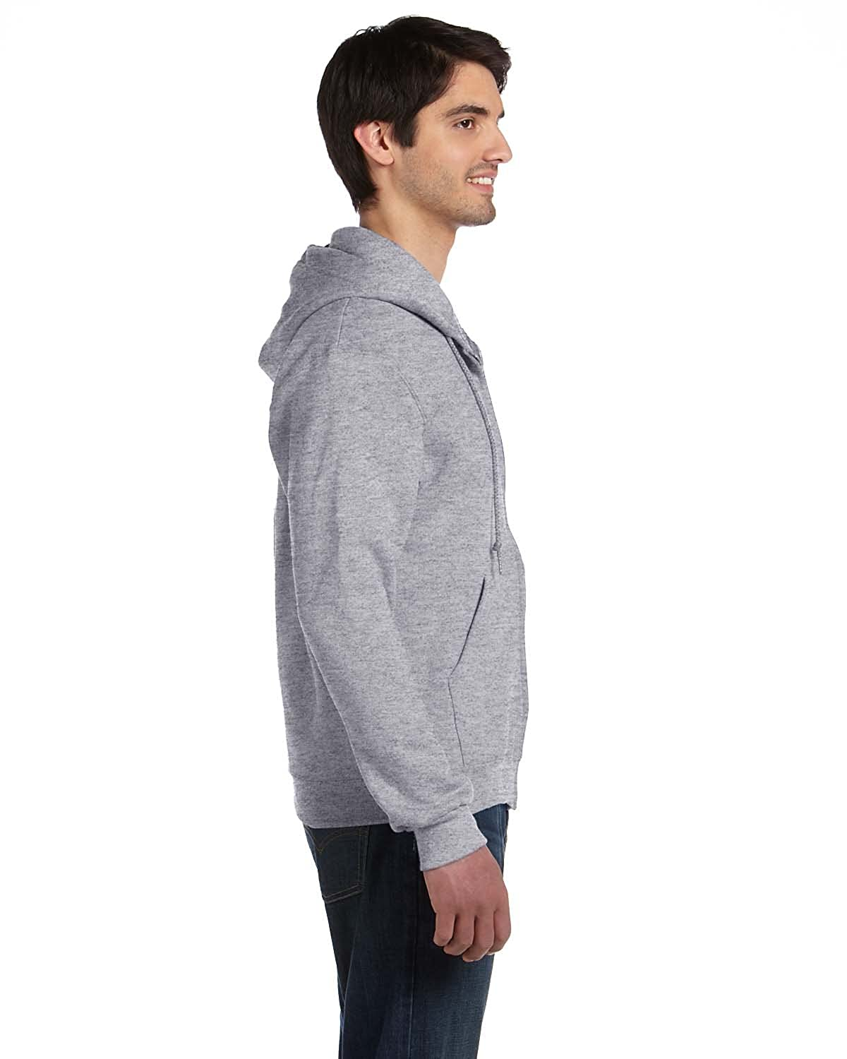 Supercotton 70//30 Full-Zip Hood ATHLETIC HEATHER Fruit of the Loom 12 oz XL